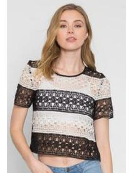 Upbeat Lace Top by Wet Seal