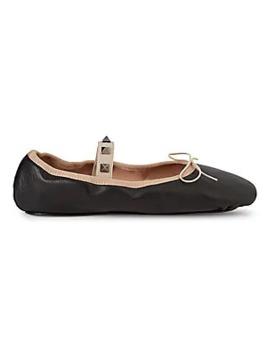 Rockstud Leather Ballerina Flats by Valentino Garavani