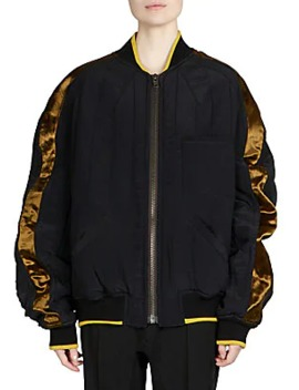 Contrast Bomber Jacket by Haider Ackermann