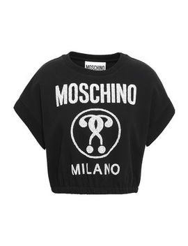 Printed Cotton Blend Jersey T Shirt by Moschino