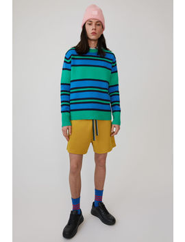 Knit Sweater Green Multicolor by Acne Studios