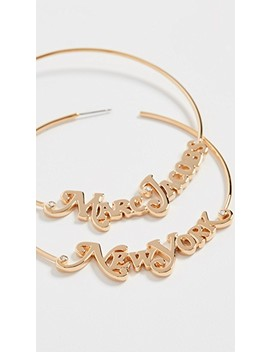 The Logo Hoops by Marc Jacobs