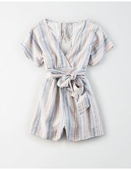 Ae Striped Kimono Sleeve Romper by American Eagle Outfitters