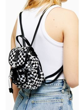 Nyc Check Sequin Backpack by Topshop
