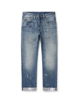 1952 501 Distressed Selvedge Denim Jeans by Levi's Vintage Clothing