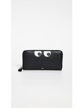 Eyes Large Zip Around Wallet by Anya Hindmarch