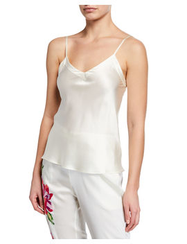 Core Silk V Neck Camisole by Ginia