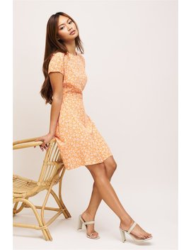 Crew Neck Fit &Amp; Flare Dress by Dynamite