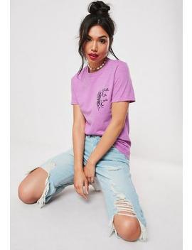 Purple C'est La Vie Graphic T Shirt by Missguided