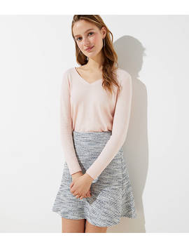 Shimmer Knit Flippy Skirt by Loft