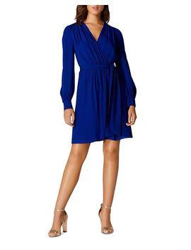 Pintuck Faux Wrap Dress by Karen Millen