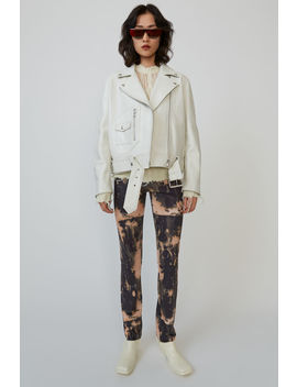 Biker Jacket Ivory White by Acne Studios