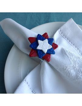 Red, White, And Blue Star Napkin Ring by Amazon