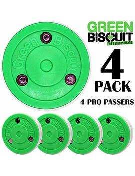 Green Biscuit Original Hockey Training Puck   For Passing, Toe Drags, And Stick Handling (Color Choice) by Green Biscuit