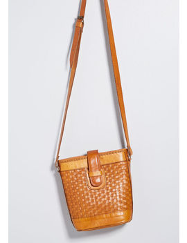 And We're Off Leather Bucket Bag by Modcloth
