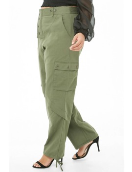 Plus Size Cargo Trousers by Forever 21