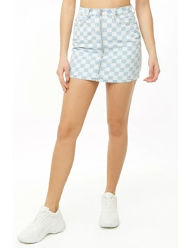 Checkered Print Mini Skirt by Forever 21