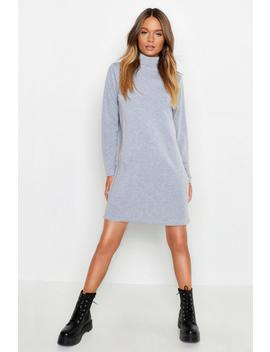 Roll Neck Long Sleeve T Shirt Dress by Boohoo