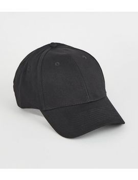 Black Twill Cap by New Look