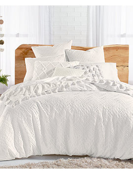 Taos Cotton 3 Pc. Matelasse Full/Queen Duvet Cover Set, Created For Macy's by General