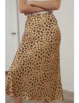 Leopard Silk Skirt by Genuine People