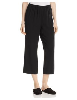 Straight Crop Silk Pants, Regular & Petite by Eileen Fisher System