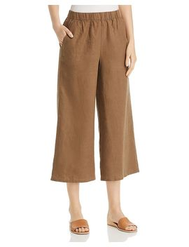 Cropped Organic Linen Pants by Eileen Fisher Petites