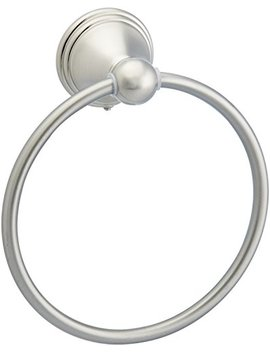 Amazon Basics Modern Towel Ring   Satin Nickel by Amazon Basics