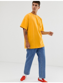Asos Design Oversized T Shirt In Pique In Yellow by Asos Design