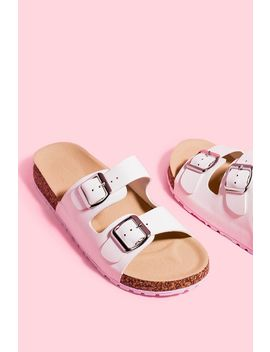 Double Buckle Slide Sandal by A'gaci
