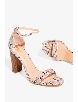 Santos Ankle Strap Block Heels by A'gaci