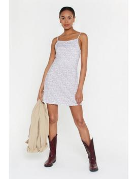 Once And Floral Mini Dress by Nasty Gal