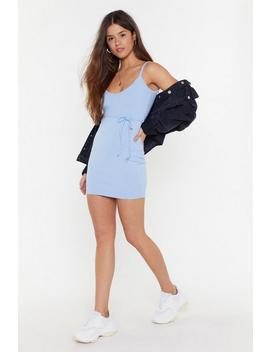 Live Free Or Tie Hard Ribbed Mini Dress by Nasty Gal