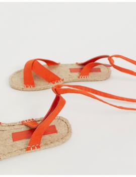 Asos Design Jala Espadrille Flat Sandals In Orange by Asos Design