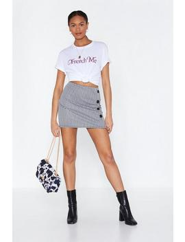 Ain't Nothin' But A Houndstooth Mini Skirt by Nasty Gal
