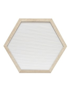 "15.5""X13.7"" Hexagon Letter Board Decorative Wall Art White   Room Essentials by Room Essentials"