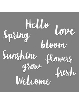 Spring Word Pack Wall Decor White   Room Essentials by Room Essentials