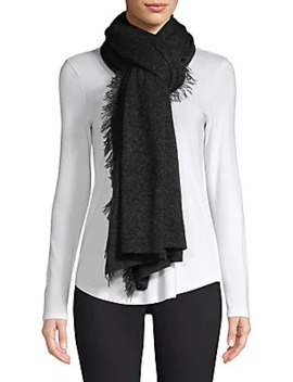 Collection Oversized Cashmere Fringe Scarf by Saks Fifth Avenue