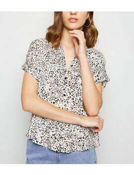 White Leopard Print Short Sleeve Shirt by New Look