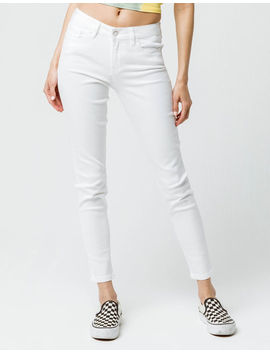 Celebrity Pink Mid Rise White Womens Denim Skinny Jeans by Tilly's