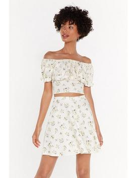 All Of Your Florals Fit &Amp; Flare Mini Skirt by Nasty Gal