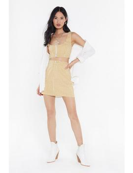 Houndstooth Be Told Mini Skirt by Nasty Gal