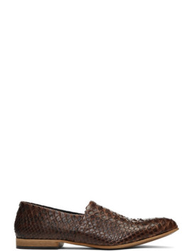 brown-snake-babouche-loafers by haider-ackermann