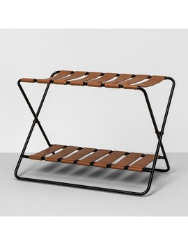 Foldable Luggage Rack   Black   Hearth &Amp; Hand With Magnolia by Black