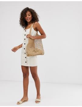 Asos Design Tall Denim Mini Dress With Buttons by Asos Design