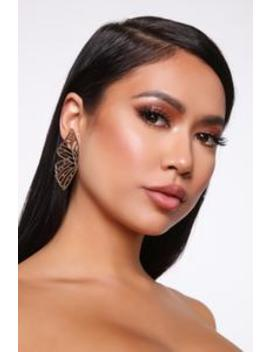Butterfly Wing Earrings   Gold by Fashion Nova