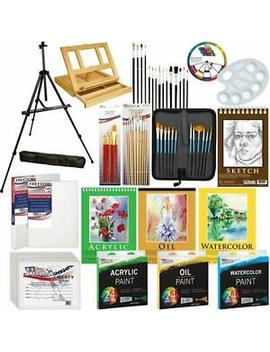 Us Art Supply 133 Piece Deluxe Artist Painting Set (Kit All D130) by Ebay Seller