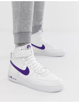 Белые кроссовки Nike Air Force 1 High '07 3 At4141 103 by Nike