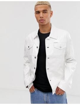 Calvin Klein Jeans Vinyl Trucker Jacket by Calvin Klein