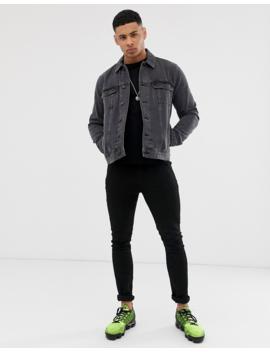 Asos Design Regular Denim Jacket In Washed Black by Asos Design